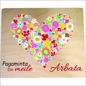 """ARBATINĖ 4 SKYRIŲ """"PAGAMINTA SU MEILE"""""""