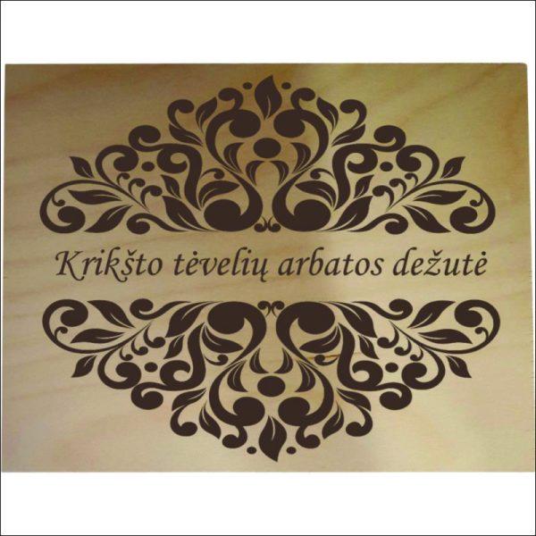 """ARBATINĖ 6 SKYRIŲ """"KRIKŠTO TĖVELIŲ ARBATOS DĖŽUTĖ"""""""