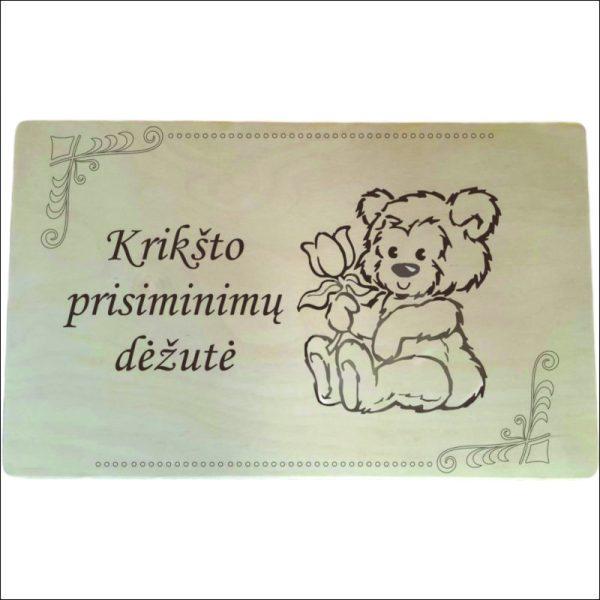 """MEDINĖ KRIKŠTADĖŽĖ """"KRIKŠTO PRISIMINIMŲ DĖŽUTĖ"""""""