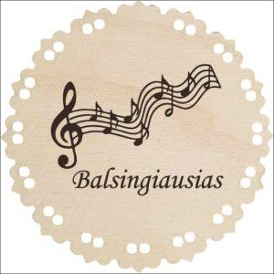 """MEDINIS MEDALIS """"BALSINGIAUSIAS"""""""