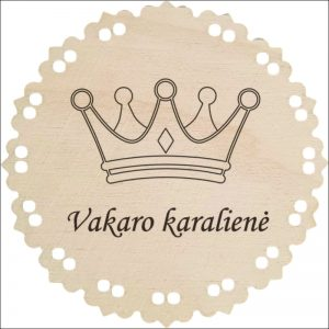 """MEDINIS MEDALIS """"VAKARO KARALIENĖ"""""""