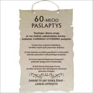 """GRAVIRUOTA, PAKABINAMA LENTELĖ """"60-MEČIO PASLAPTYS"""""""