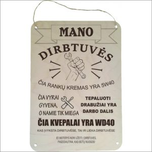 """GRAVIRUOTA, PAKABINAMA LENTELĖ """"MANO DIRBTUVĖS"""""""